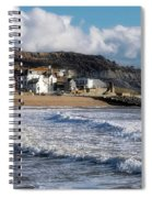 Stormy Seafront - Lyme Regis Spiral Notebook