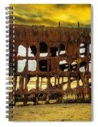 Stormy Shipwreck Spiral Notebook