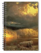 Stormy Skies Above Echo Lake White Mountains  Spiral Notebook