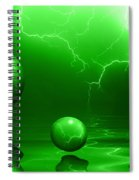 Stormy Skies - Green Spiral Notebook
