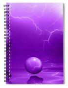 Stormy Skies - Purple Spiral Notebook