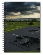 Stormy Sky Over Fort Moultrie Spiral Notebook