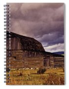 Stormy Sunset At Moulton Barn Spiral Notebook