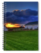 Stormy Sunset In The Country Spiral Notebook