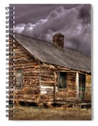 Stormy Times Tenant House Greene County Georgia Art Spiral Notebook