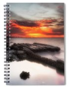 Stormy Twilight Afterglow Spiral Notebook
