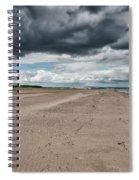 Stormy Weather Over Tentsmuir Beach In Scotland Spiral Notebook