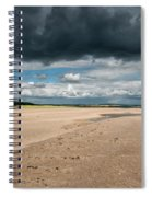 Stormy Weather Over The Beach In Scotland Spiral Notebook