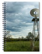 Stormy Windy Windmill Spiral Notebook
