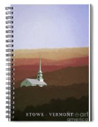 Stowe Vermont Fall Poster Spiral Notebook