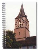 St.peter Church Clock In Zurich Switzerland Spiral Notebook