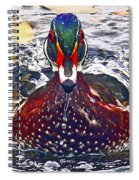 Straight Ahead Wood Duck Spiral Notebook
