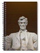 Straight On Abe Spiral Notebook