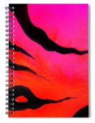 Strange Abstract Mood Spiral Notebook