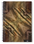Strange Abstract  Spiral Notebook