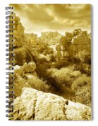 Strange Rock Formations At El Torcal Near Antequera Spain Spiral Notebook