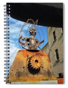 Strange Steam Punk Demonic Figure Spiral Notebook