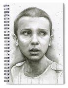 Stranger Things Eleven Upside Down Art Portrait Spiral Notebook