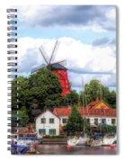 Windmill In Strangnas Sweden Spiral Notebook