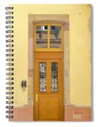 Strasbourg Door 03 Spiral Notebook