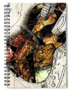 Strat Abstracta No. 4 Sunrise Spiral Notebook