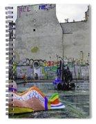 Stravinsky Fountain Near Centre Pompidou In Paris, France Spiral Notebook