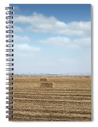 Straw Bale And Center Pivot Sprinkler System On Field Spiral Notebook