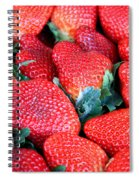 Strawberries 8 X 10 Spiral Notebook