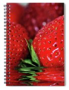Strawberries Afloat By Kaye Menner Spiral Notebook