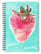 Strawberries And Cream Spiral Notebook