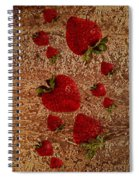 Strawberries And Stone Slab  Spiral Notebook