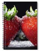 Strawberries Panorama Spiral Notebook