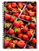Strawberries With Green Weed In Plastic Containers  Spiral Notebook
