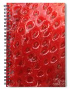 Strawberry Closeup Spiral Notebook