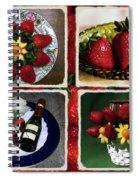 Strawberry Collage Spiral Notebook