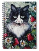 Strawberry Lover Cat Spiral Notebook