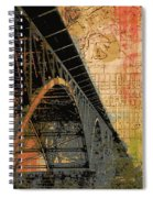 Strawberry Mansion Bridge Philadelphia Pa Spiral Notebook