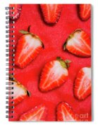 Strawberry Slice Food Still Life Spiral Notebook