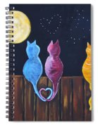 Stray Cats In Moonlight Spiral Notebook