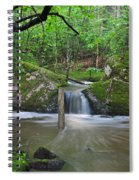 Stream Waterfall Spiral Notebook