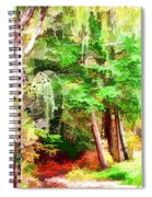 Streams In A Wood Covered With Leaves Spiral Notebook