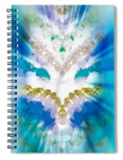 Streams Of Light In Turquoise Spiral Notebook