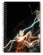 Street Busy At Night  Abstract Spiral Notebook