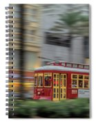 Street Car Flying Down Canal Spiral Notebook