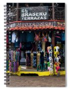 Street Commerce At Ataco Spiral Notebook