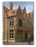 Street Corner In Bruges Belgium Spiral Notebook