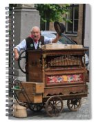 Street Entertainer In Bruges Belgium Spiral Notebook