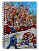 Street Hockey Hotel De Ville Spiral Notebook