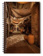 Street In Gothic District Of Barcelona At Night Spiral Notebook