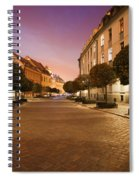 Street In Ostrow Tumski By Night In Wroclaw Spiral Notebook